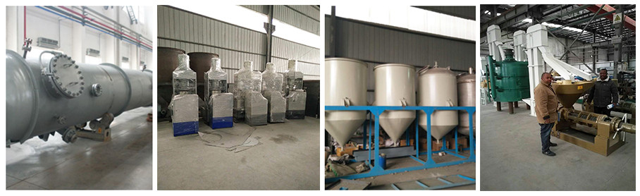 Castor bean oil processing line
