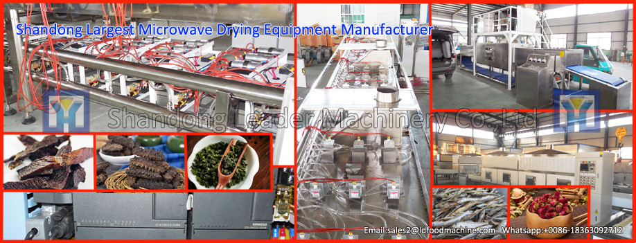 Industrial conveyor belt microwave drying machine for glass fiber