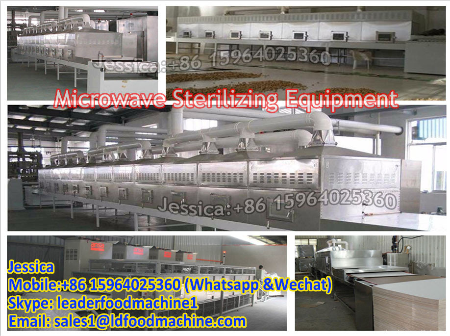 customized tunnel microwave drying sterilization machine in zambia