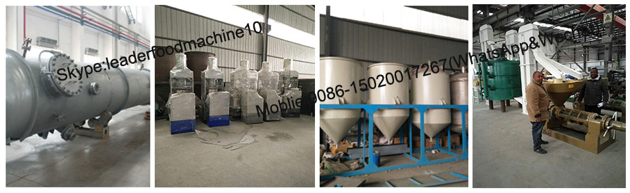Continuous and automatic soybean oil refining machine with production line