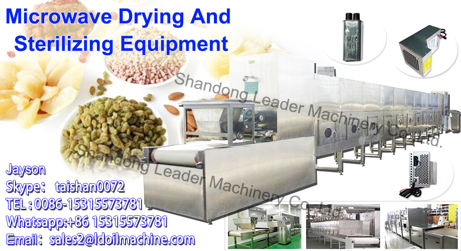 Microwave Microwave LD industrial stainless steel fish drying oven with mobile carts and trays