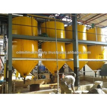 Crude sunflower oil refinery