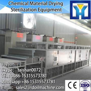 Continuous industrial big capacity microwave dryer for leaf