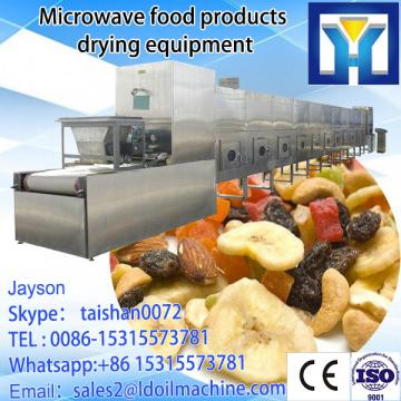 Continuous tunnel microwave meat drying and sterilization machine
