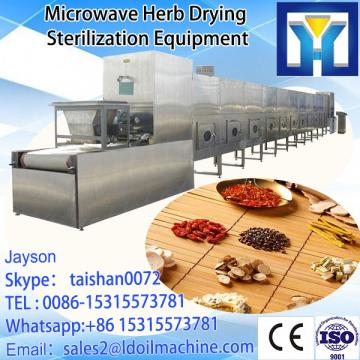 India Microwave Neem Powder / Neem Leaves dryer sterilizer 100-1000kg/h with CE certificate