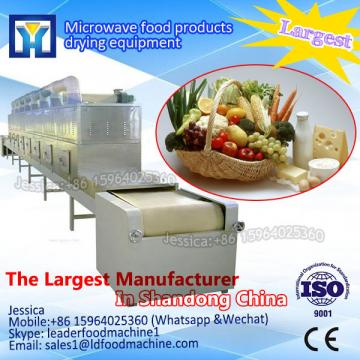Conveyor microwave drying and sterilization machine for herbs powder