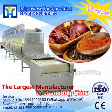 Microwave tunnel dryer for paper tube