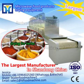 Microwave machine for drying almonds