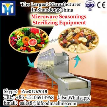 low consumption tunnel microwave drier for rheum officinale