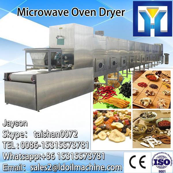 industry tunnel type microwave Bamboo fiber dryer machine/microwave oven #3 image