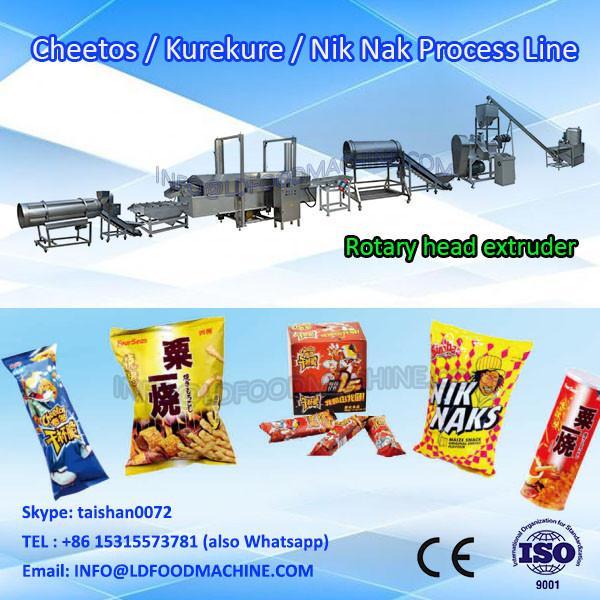 frying kurkure snacks food extruder make machinery processing line #1 image