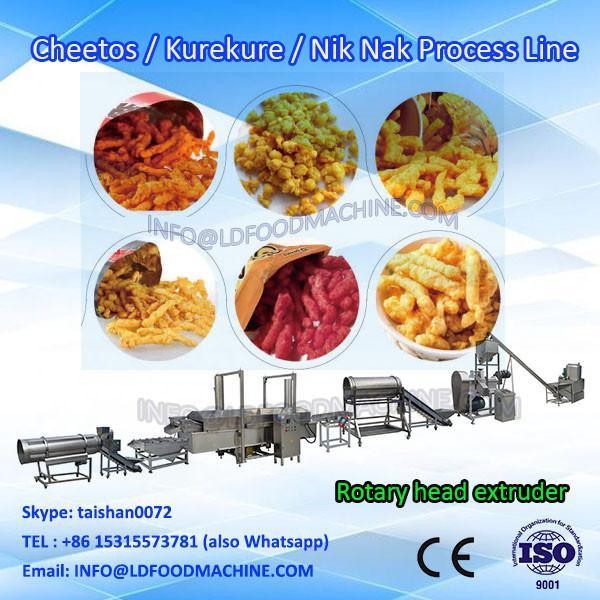 corn curl cheetos nik naks  extruder machinery production line #1 image