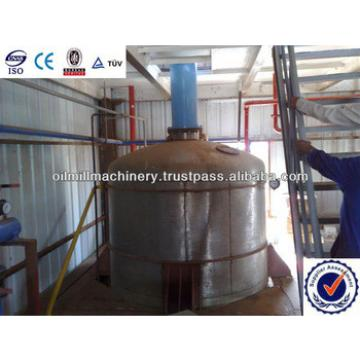 Palm oil refinery plant with fractionation plant