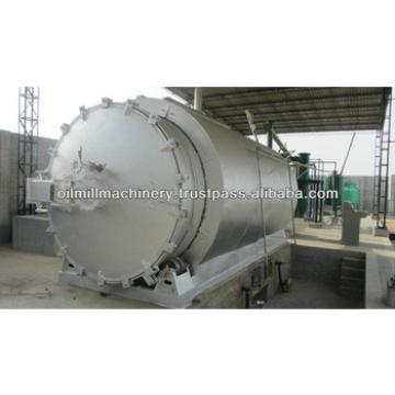 100% security full automatic continuous used tyre oil pyrolysis machine With CE Made in India