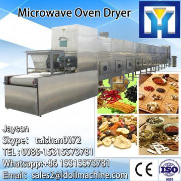 Tunnel type microwave drying and sterilizing machine for chilli powder