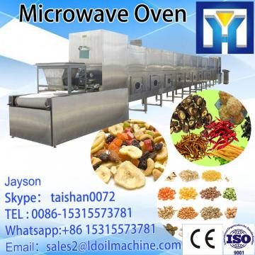 Continuous microwave drying and sterilization machine for pepper