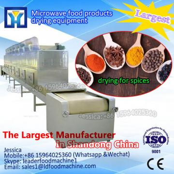 Continuous microwave drying system