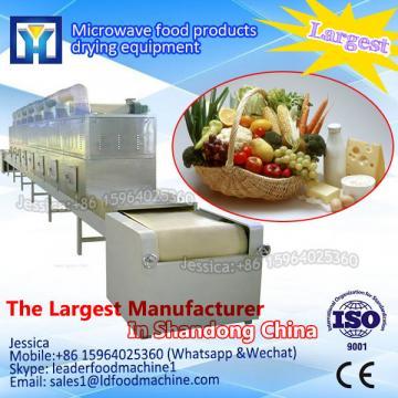 Continuous conveyor belt type microwave broadleaf holly leaf dryer