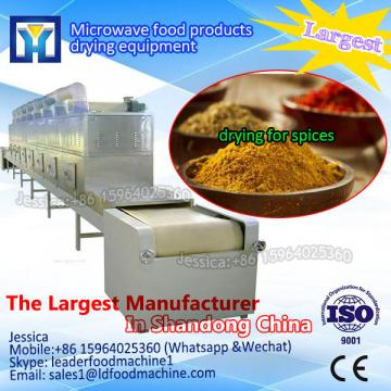 Tunnel microwave roasting oven for cashew nuts