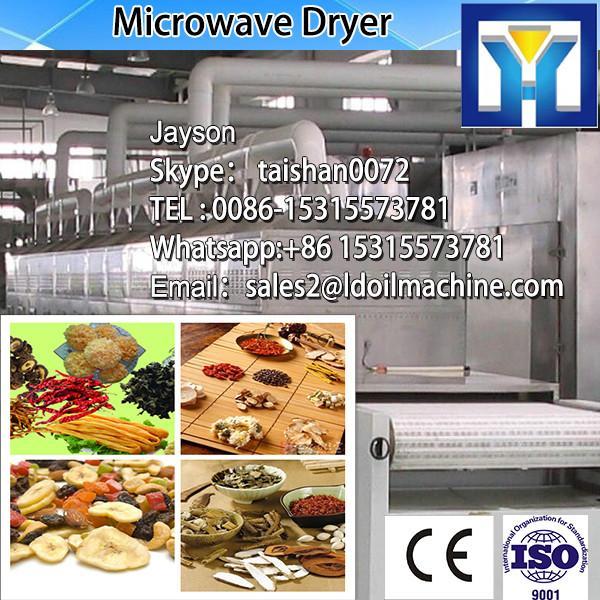 industriall microwave conveyor belt sterilizer/garlic onion powder sterilization system/rose tea sterilizing machine #3 image