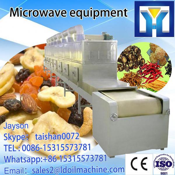 Continuous conveyor belt microwave green tea drying machine #5 image