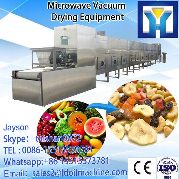 Tunnel conveyor belt microwave leaf dehydrator/Stevia leaves drying sterilizing machine/oven #4 image