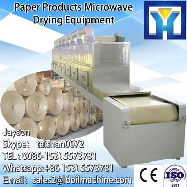 industriall microwave conveyor belt sterilizer/garlic onion powder sterilization system/rose tea sterilizing machine #4 image