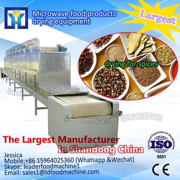 Spinach chopped leaves 100-1000kg/h microwave dryer/sterilizer #1 image