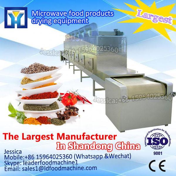 Tunnel conveyor belt type continue produce microwave flower petal drying/dryer machine #1 image