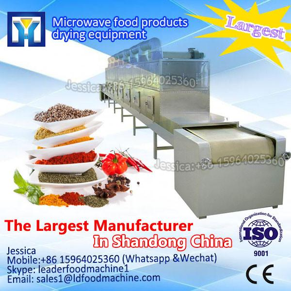 Tunnel type microwave fresh olive leaves drying/dehydration and sterilizing machine #1 image