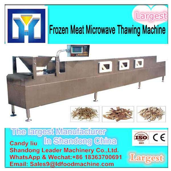 China supplier conveyor belt microwave thawing machine for chicken #3 image