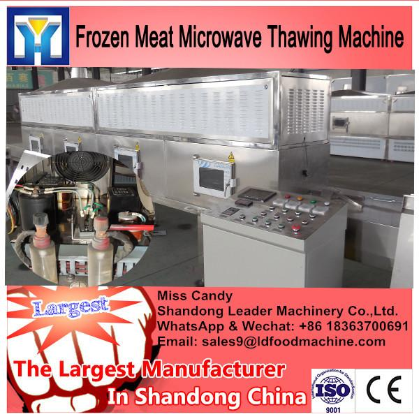 China supplier conveyor belt microwave thawing machine for chicken #2 image