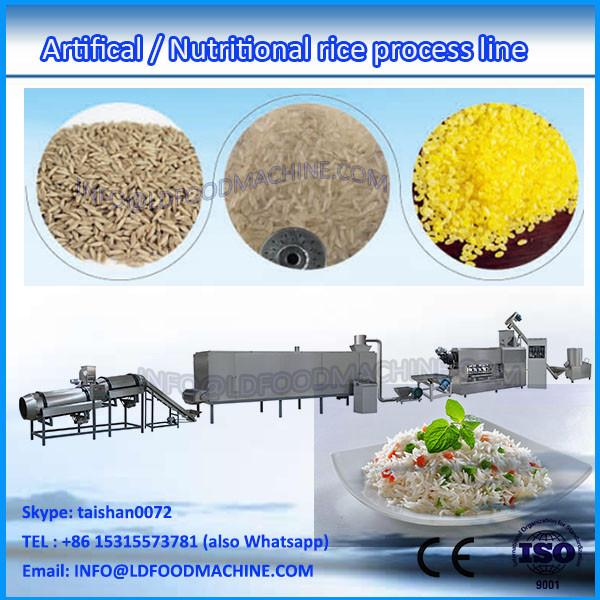 instant rice food machinery CE certificate 2017 hot sale double screw extruder #1 image